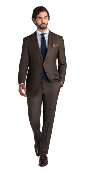 383185d98346 Brown Glen Plaid Suit - Mens Suits | Black Lapel