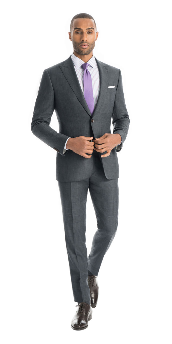 Grey And Purple Suit Hardon Clothes