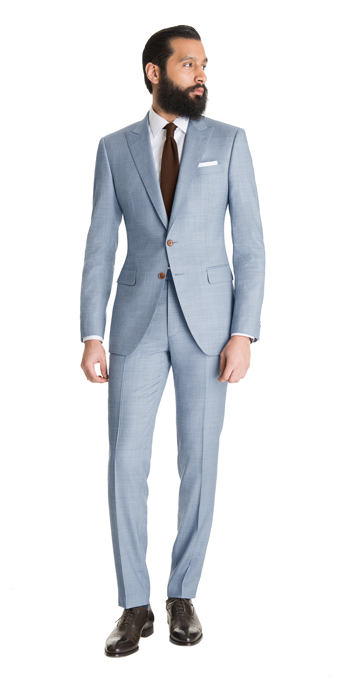 cheap for sale fresh styles on feet at Light Blue Sharkskin Suit - Mens Suits | Black Lapel