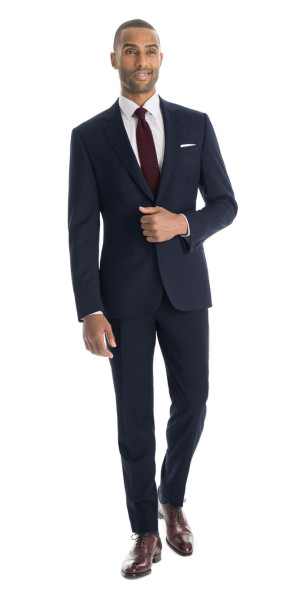 Navy Blue Custom Suit - Navy Blue Suit - Navy Suit | Black Lapel
